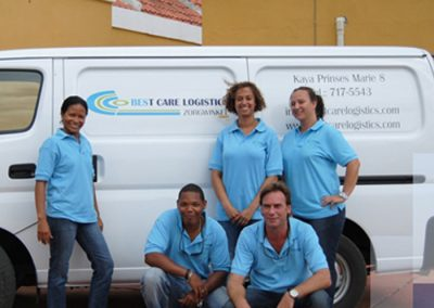 Belettering Best Care op Bonaire