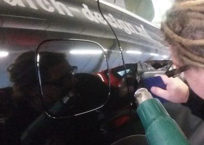 inföhnen van de handvaten van de auto