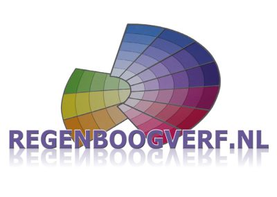 logo regenboog verf