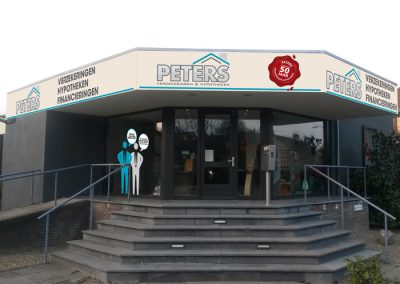 Gevelbelettering Peters Malden