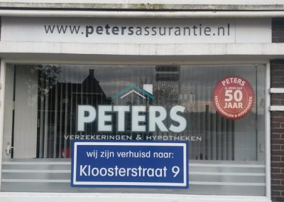 Raambelettering Peters Malden