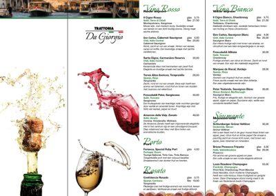 menukaart wijn