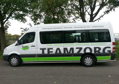 Busbelettering Teamzorg